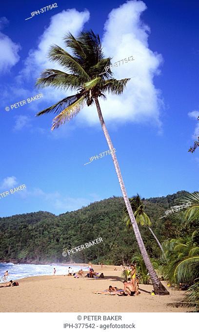 Tropical beach scene on the island of Tortola