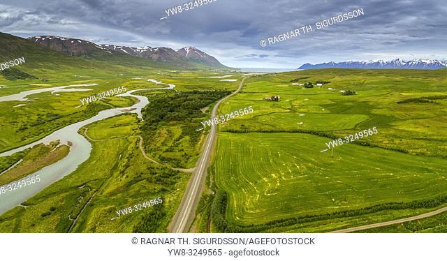 Farm, Skidadalur valley, Eyjafjordur, Northern Iceland