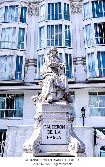 Calderon de la Barca, sculpture in Madrid, Spain, Europe