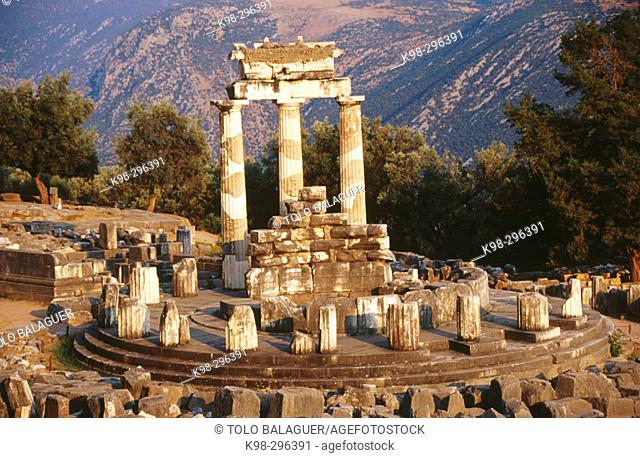 Tholos Temple in Sanctuary of Athena Pronaia. Delphi. Greece