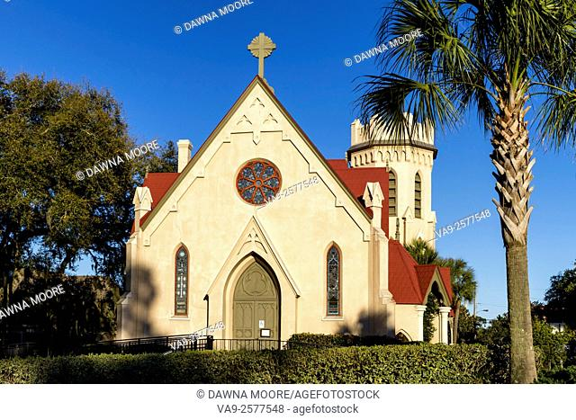 Hitoric St. Peter's Episcopal Church in Fernandina Beach on Amelia Island in Florida
