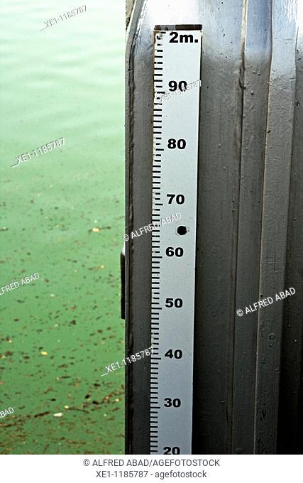 Meter, St Ponç reservoir meter, Solsones, Catalonia, Spain