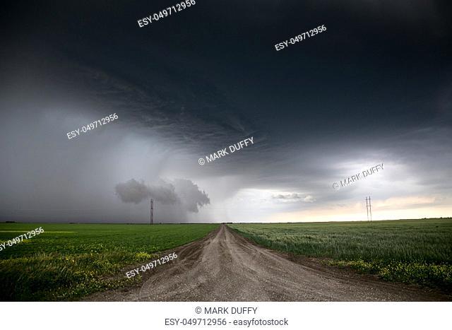 Prairie Storm Clouds in Saskatchewan Canada rural setting