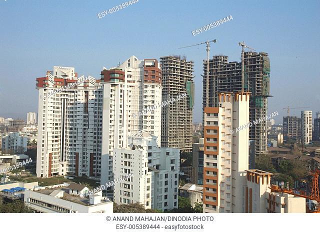 Ready and under construction buildings ; Prabhadevi ; Bombay Mumbai ; Maharashtra ; India