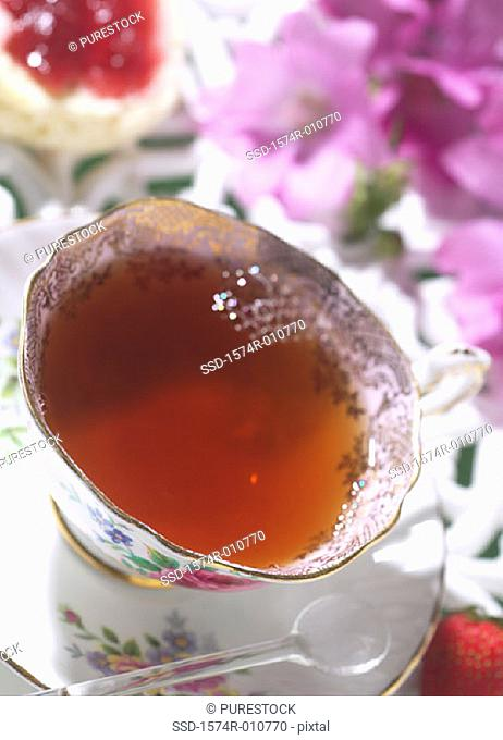 Close-up of a cup of tea