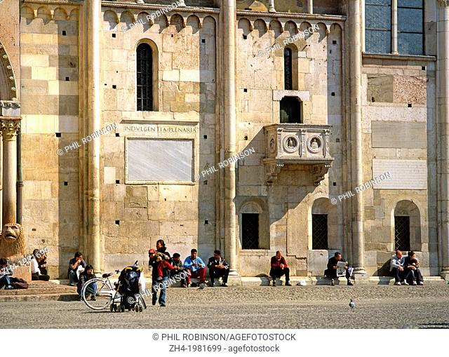 Modena, Emilia-Romagna, Italy. San Giminiano Cathedral. (Romanesque - 12thC, started 1099)