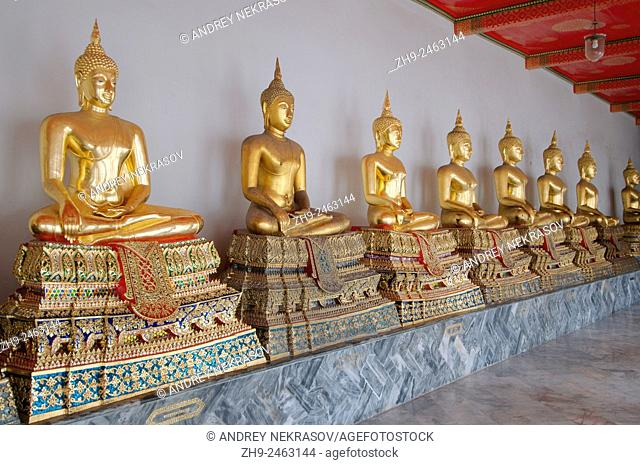 View`s of the Buddha in Wat Pho - Temple of the Reclining Buddha, its official name is Wat Phra Chetuphon Vimolmangklararm Rajwaramahaviharn