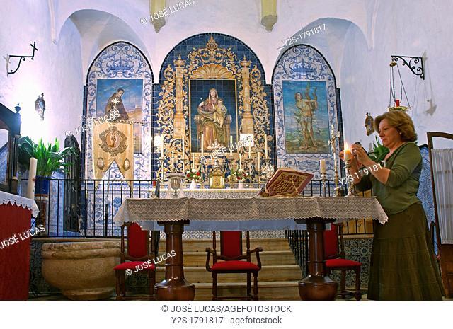 Parish Church of San Sebastian -15th century- interior, San Nicolas del Puerto, Seville-province, Spain