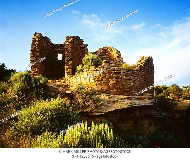 Cutthroat Castle Hovenweep National Monument Colorado Utah border USA