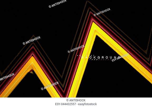 Geometric shapes created with fluid multicolored lines. Vector artistic illustration for presentation, app wallpaper, banner or poster