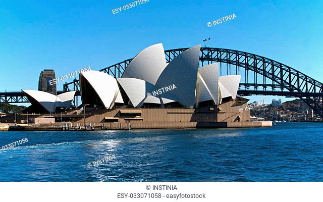 Sydney Opera House and the Harbor Bridge in Australia