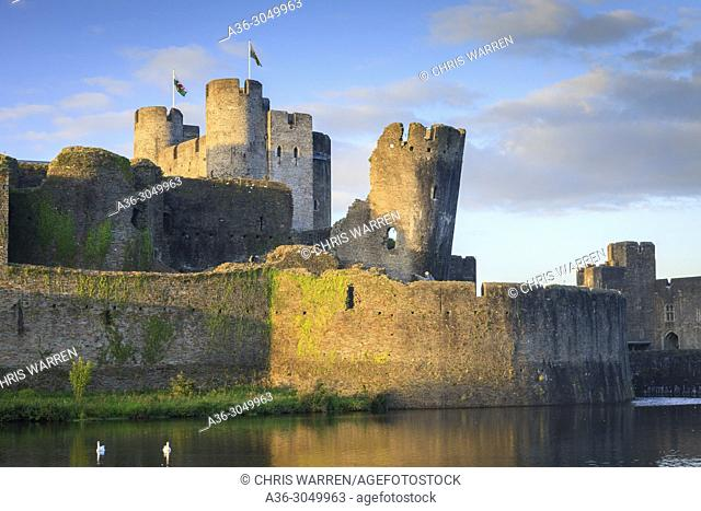Caerphilly Castle Caerphilly Mid-Glamorgan Wales