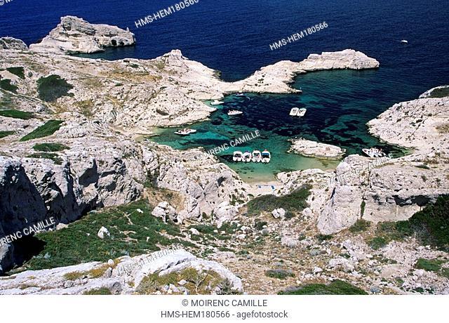 France, Bouches du Rhone, Marseille, Frioul islands, Pomegues island