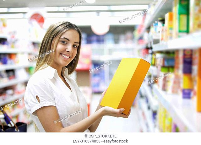 Woman in a Grocery Store