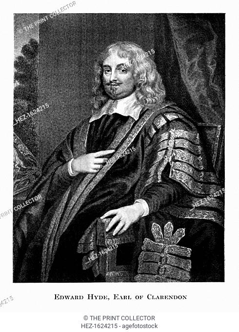 Edward Hyde (1609-1674), 1st Earl of Clarendon, 19th century. Hyde was an historian and statesman