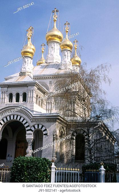 Russian Orthodox church (1866). Rue Toepffer. Geneva. Switzerland
