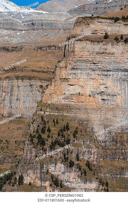 Monte Perdido in Ordesa National Park, Huesca. Spain