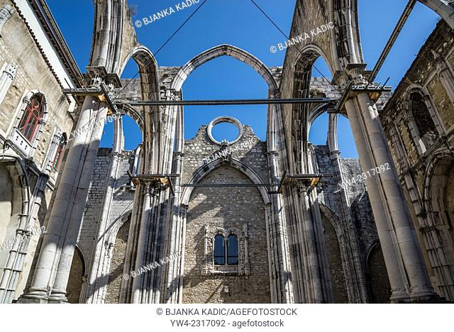 Carmo Convent and church, Lisbon, Portugal