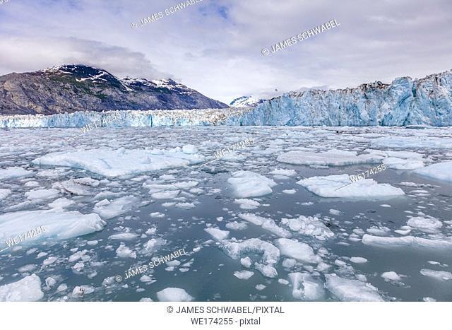 Columbia Glacier in Prince William Sound on western Alaska's Chugach Mountains near Valdez Alaska