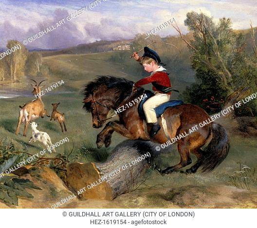 'The First Leap: Lord Alexander Russell on his Pony 'Emerald', 1829