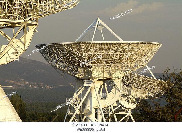 Antennas in Buitrago de Lozoya. Madrid, Spain