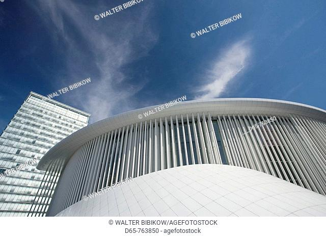 Luxembourg, Luxembourg City, Kirchberg Plateau, Philharmonie Luxembourg Grande. Duchese Josephine. Charlotte, concert hall