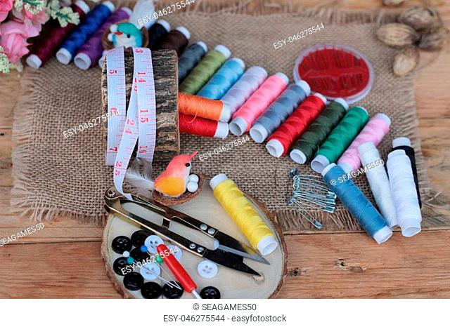 Sewing Supplies ,scissors thread with and scissors