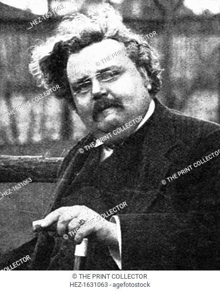 G.K. Chesterton (1874-1936), English writer, early 20th century