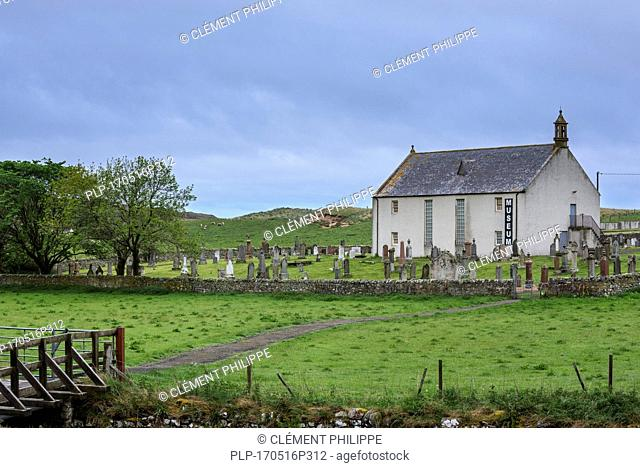 Strathnaver Museum of the Clearances, former parish church of St Columba at Clachan, Bettyhill, Caithness, Scottish Highlands, Scotland, UK