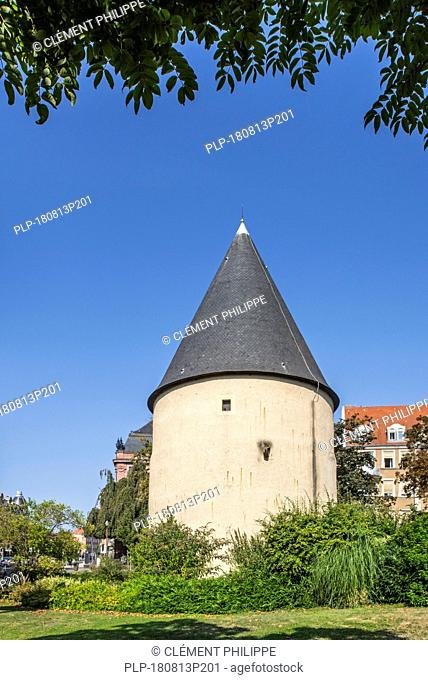 Tour Camoufle, 15th century cylindrical artillery tower in the city Metz, Moselle, Lorraine, France