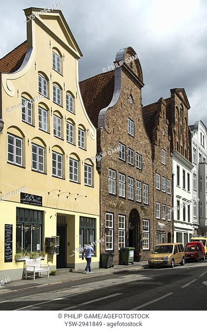 Merchants' houses in the Hanseatic trading port of Lubeck (Luebeck), northern Germany