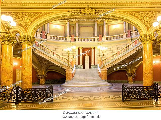 Entrance Hall of the Romanian Athenaeum, Bucharest, Romania