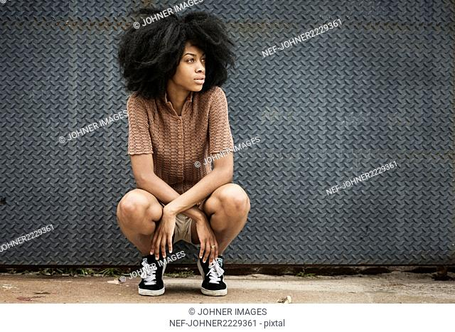Young woman with afro hair