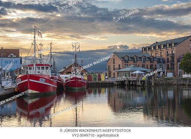 Fishing port, Heiligenhafen, Baltic Sea, Schleswig-Holstein, Germany, Europe
