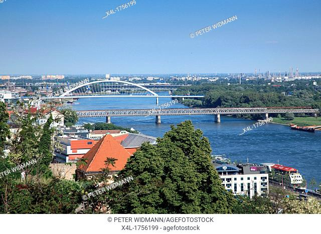View of Bratislava on the Danube, Slovakia