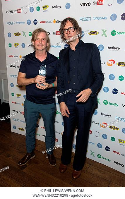 Association of Independent Music Awards 2017 Featuring: Steve Beckett, Jarvis Cocker Where: London, United Kingdom When: 05 Sep 2017 Credit: Phil Lewis/WENN
