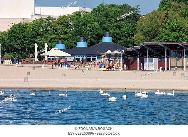Gdynia Beach in Poland