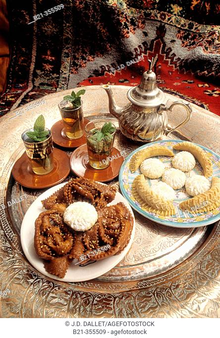 Arab desserts in an Albaicín quarter teashop. Granada. Spain
