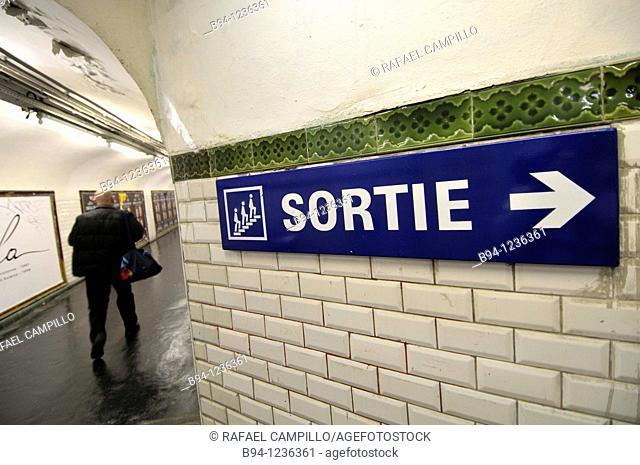Subway station. Paris, France