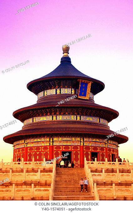 Temple of Heaven, Beijing, with tourists