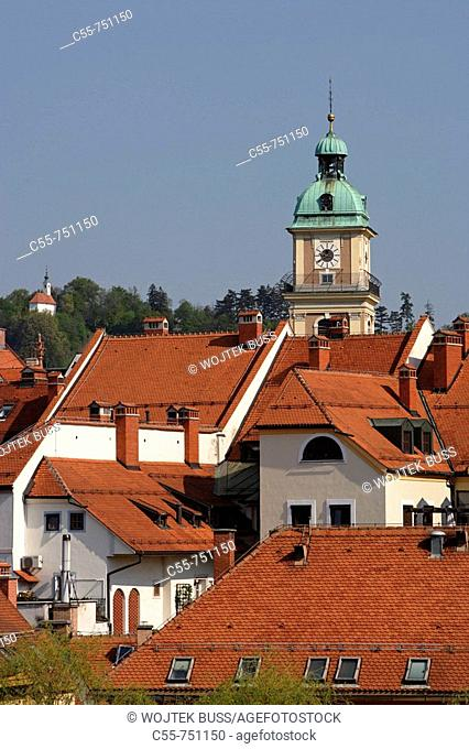 Maribor, old town, Cathedral Church of St John the Baptist, Slovenia