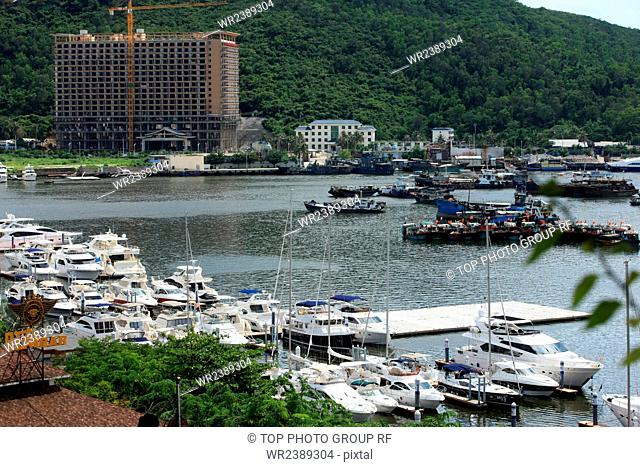 Fishing ports construction Sanya City Hainan Province China Year 2012