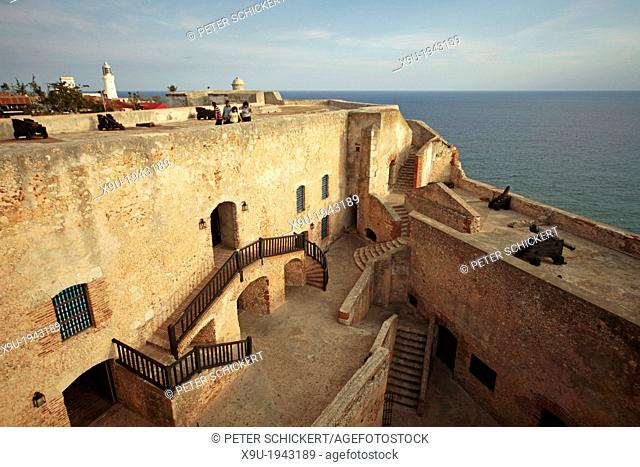 the fortress Castillo de San Pedro de la Roca or Castillo del Morro near Santiago de Cuba, Cuba, Carribean