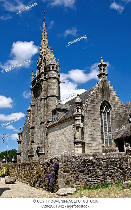 church (16th-17th c.), Guimiliau parish enclosure, finistere, 29, Brittany, France