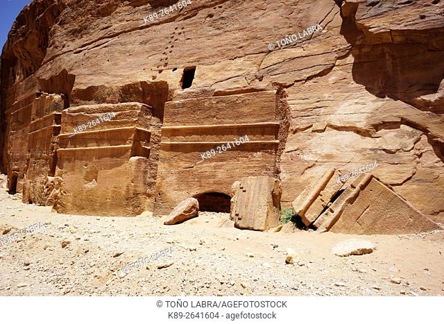 The Royals Tombs. Petra. New 7 Wonders of the World. Jordan