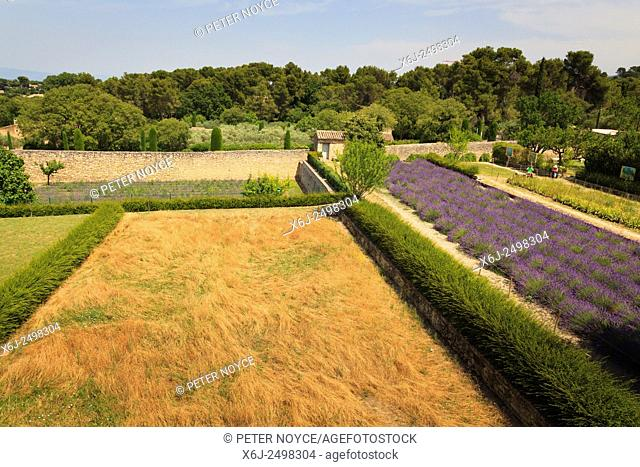 Looking down from his bedroom onto the garden and field that fasinated Van Gogh at Maison de Sante Saint Paul Monastery at Saint Remy