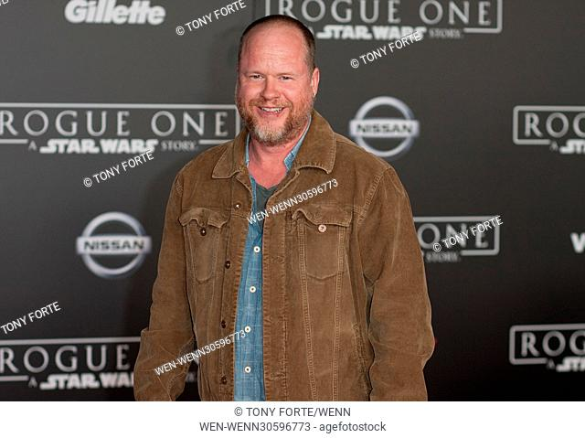 World premiere of 'Rogue One: A Star Wars Story' held at Pantages Theatre - Arrivals Featuring: Joss Weaton Where: Los Angeles, California