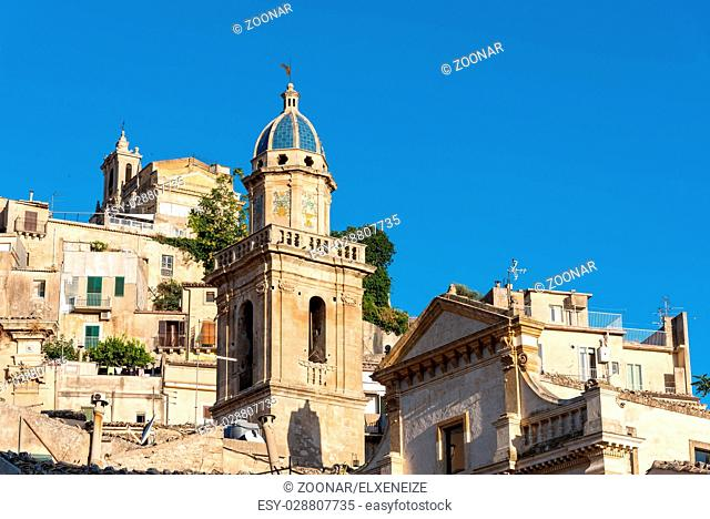 Detail of the old baroque town of Ragusa Ibla in Sicily, Italy