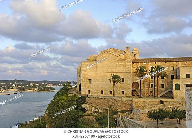former Sant Francesc Convent housing the Museum of Menorca, Mahon, Menorca, Balearic Islands, Spain, Europe