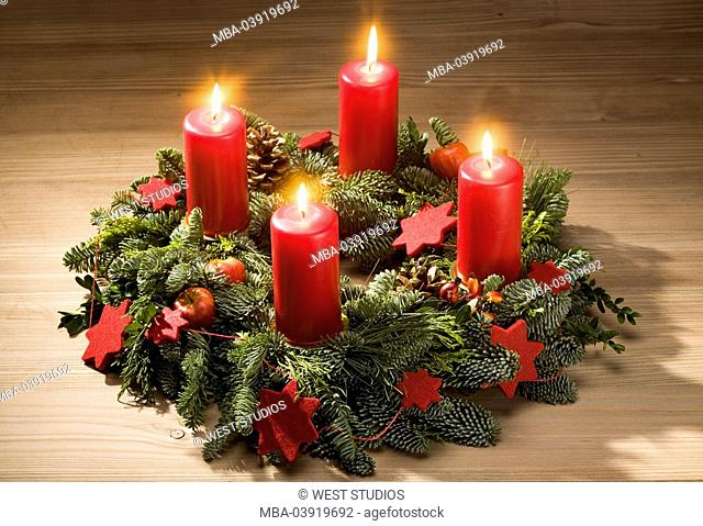 Christmas, table, advent-wreath, candles, advent-time, burn Christmas time, accessories decoration ornament Christmas-jewelry table-jewelry, wreath